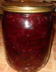 маринованная свекла на зиму рецепт