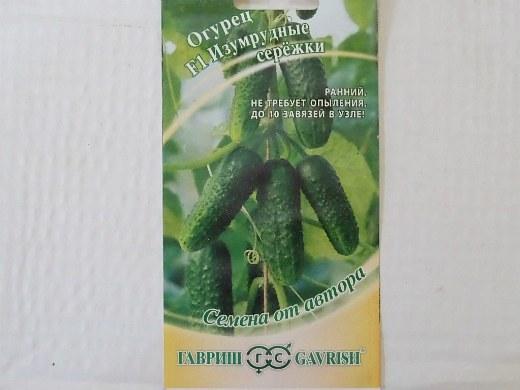 лучшие сорта огурцов изумрудные сережки f1