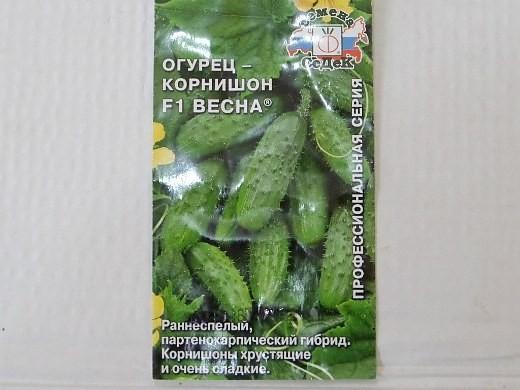 лучшие сорта огурцов-корнишонов весна f1