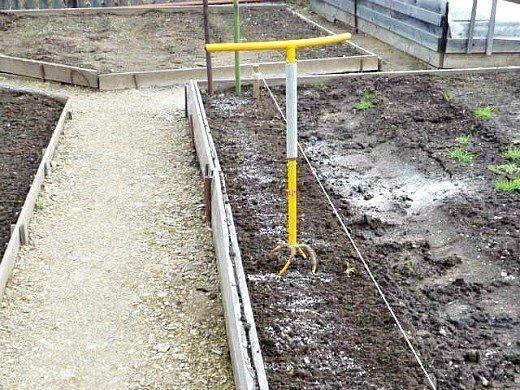 узкие гряды на 8 сотках - вспахиваем землю культиватором торнадо