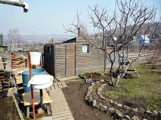 маленькая баня на даче своими руками - с предбанником