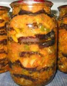 консервированные баклажаны с грибами
