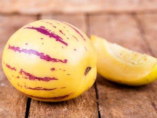 пепино фрукт, выращивание на даче в теплице