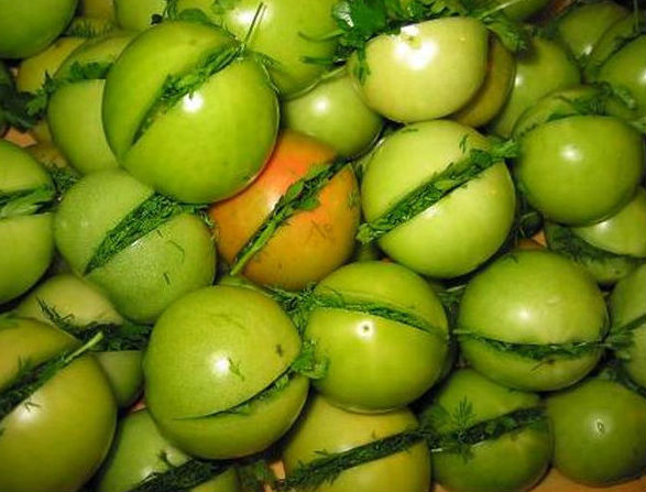 зеленые помидоры на зиму1