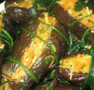баклажаны фаршированные овощами на зиму