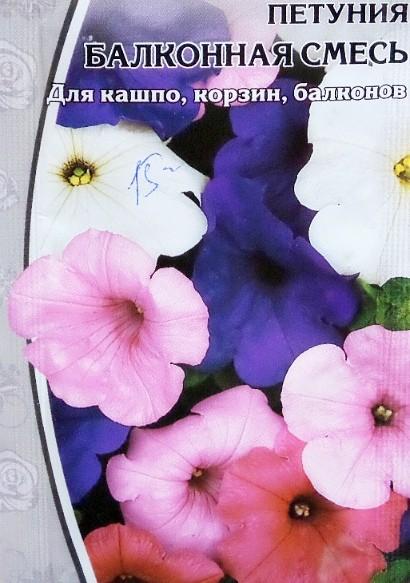 петуния, выращивание из семян в домашних условиях - балконная смесь (для кашпо, корзин, балконов)