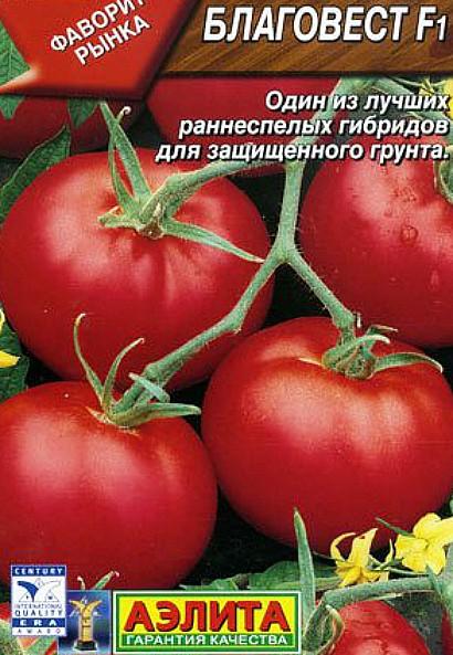 лучшие сорта томатов для теплиц - благовест f1