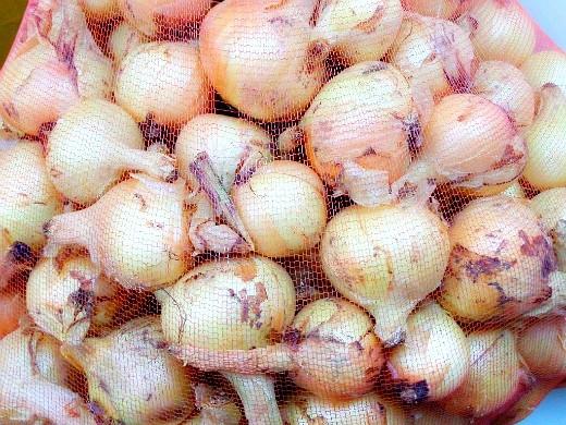 хранение овощей зимой - лук