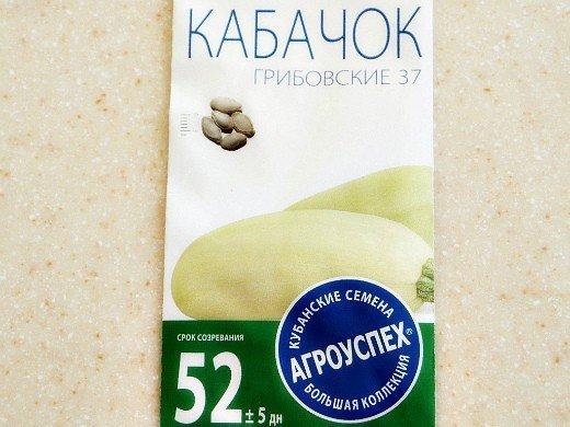 агротехника выращивания кабачков - семена грибовские 37