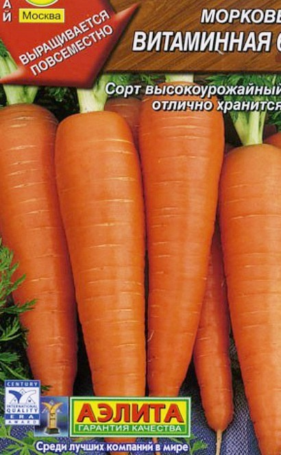 лучшие сорта моркови для открытого грунта, с описанием - витаминная 6
