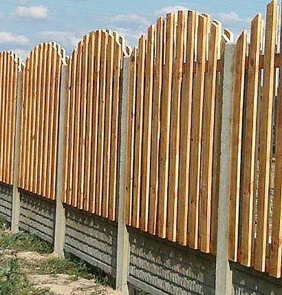 ограждение дачного участка забором 1-3