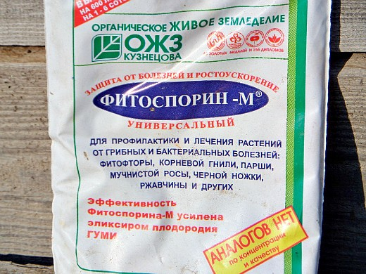 фунгициды для растений, названия - фитоспорин -м