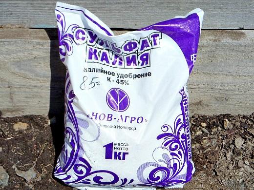 какие удобрения вносить весной - сульфат калия