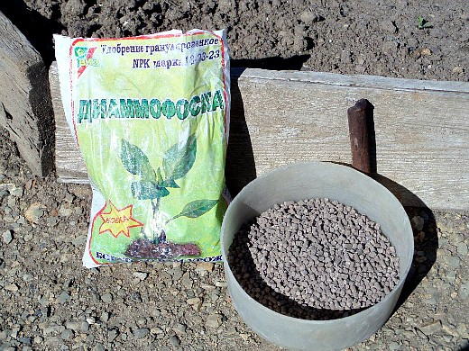 минеральные и органические удобрения для томатов - диаммофоска