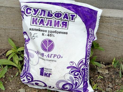 удобрения для огурцов в закрытом и открытом грунте - сульфат калия
