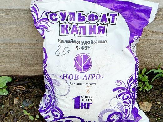 минеральные и органические удобрения для капусты сульфат калия