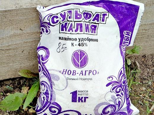 минеральные удобрения для газона - сульфат калия