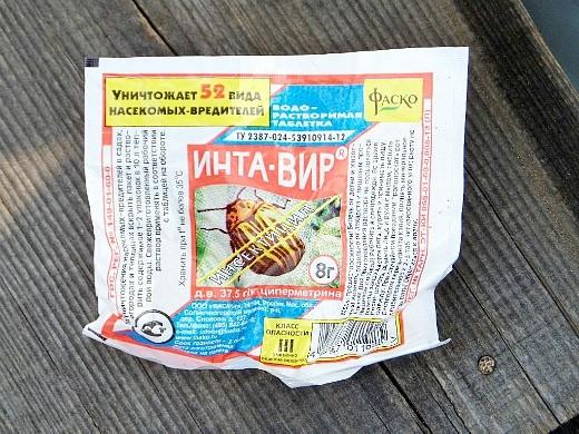 препарат инсектицид инта-вир, инструкция 1-1