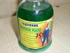 Зеленое мыло для сада