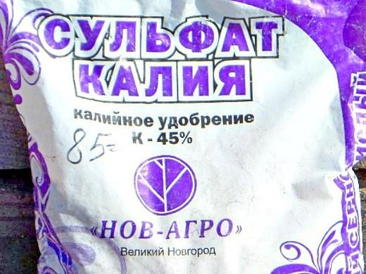 удобрения для баклажанов подкормка при выращивании - сульфат калия