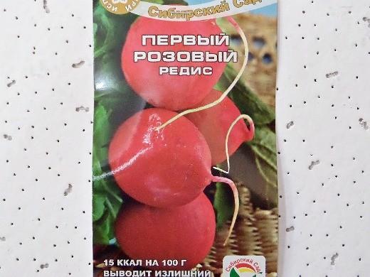 лучшие сорта редиса для открытого грунта и теплиц - первый розовый