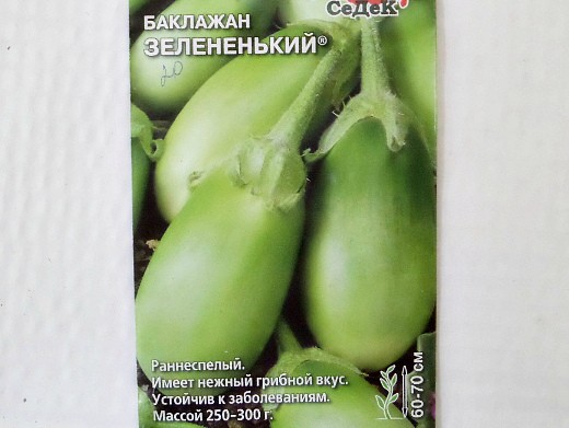 баклажан зелененький, лучшие сорта для открытого грунта и теплиц