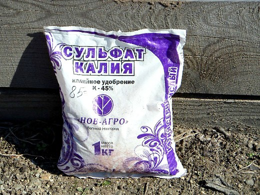 удобрения для кукурузы при посадке и выращивании - сульфат калия