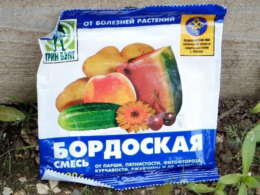 болезни и вредители груш - препарат бордоская смесь